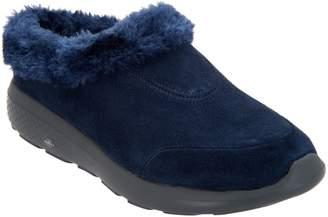 Skechers GOwalk Suede Faux Fur Clogs - Brilliant