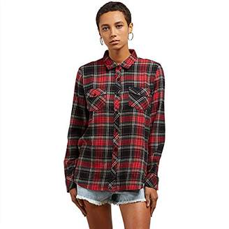 Volcom Junior's Street Dreaming Long Sleeve Flannel Shirt