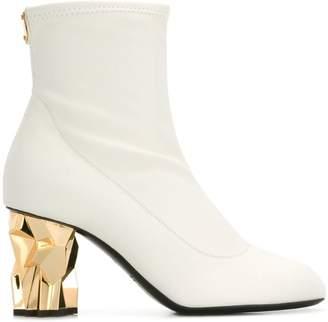 Giuseppe Zanotti Design gold heel ankle boots