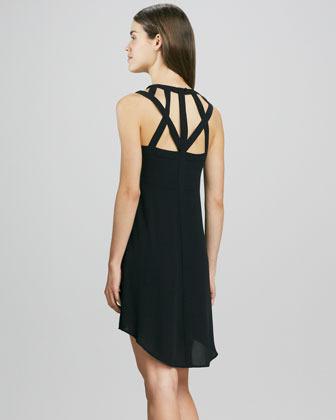 BCBGMAXAZRIA Multi-Strap Hi-Lo Dress