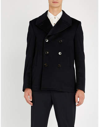 Crombie Double-breasted wool pea coat
