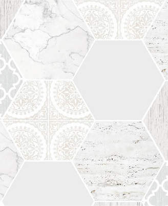 Graham & Brown Hexagonal Marble Gray Wallpaper