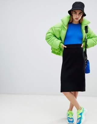Bershka knitted pencil skirt
