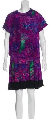 Proenza Schouler Printed Pleated Dress
