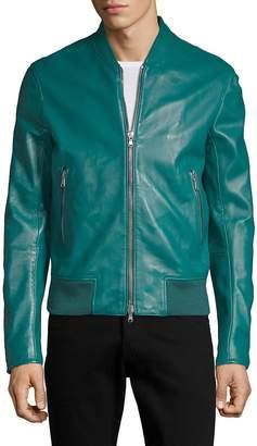 Diesel Black Gold Men's Laston Leather Bomber Jacket