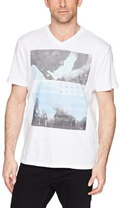 Calvin Klein Jeans Men's Short Sleeve T-Shirt Forever Dance Graphic V-Neck