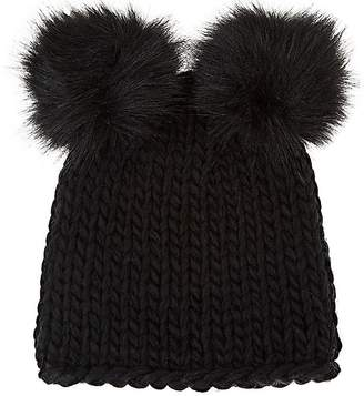 Barneys New York WOMEN'S WOOL-BLEND DOUBLE POM-POM HAT