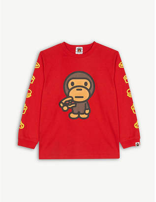 A Bathing Ape Milo junk food cotton T-shirt 4-8 years