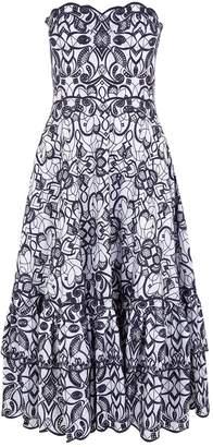 Jonathan Simkhai Strapless Embroidered Dress
