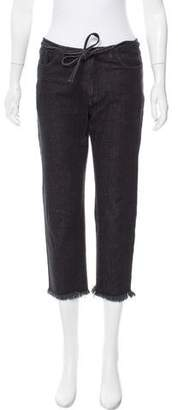 Marques Almeida Marques'Almeida Mid-Rise Cropped Jeans