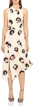 Reiss Roya Printed Chiffon Dress