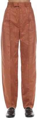 Gucci TRACED MOIRE WIDE LEG PANTS