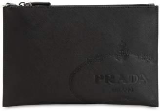Prada Savoia Saffiano Leather Pouch