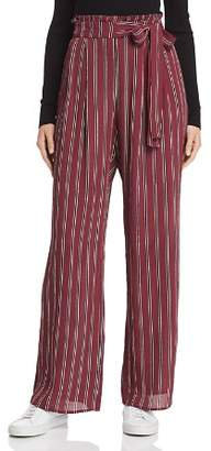 Band of Gypsies Avery Striped Paperbag-Waist Pants