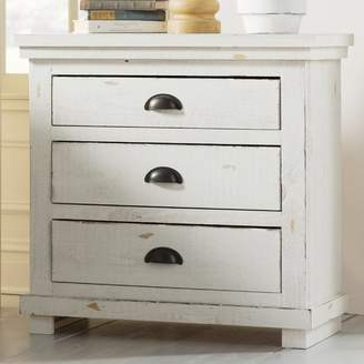 Lark Manor Castagnier 3 Drawer Night Stand