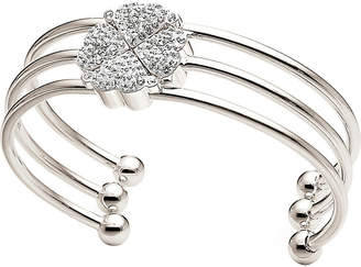 Folli Follie Heart4heart silver-plated bangle