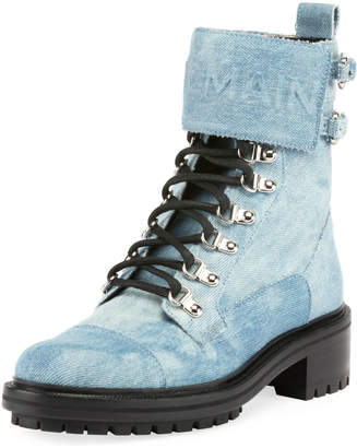 Balmain Cartel Denim Ranger Boot