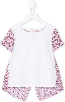 Armani Junior geometric print blouse