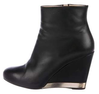 Chanel Wedge Ankle Boots