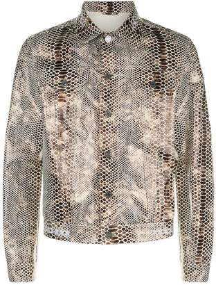 Blood Brother Snake Embossed Leather Jacket