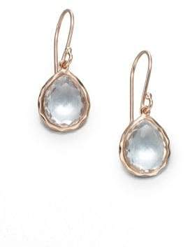 Ippolita Rose Rock Candy Clear Quartz Teeny Teardrop Earrings