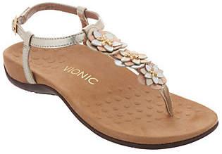 Vionic Floral T-Strap Sandals - Paulie