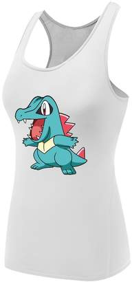 Pokemon Sysuer Tank Sysuer Lady Cartoon Totodile Base Layer Dry Fit Training Tank Top