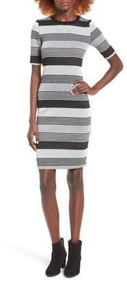 Women's Socialite Stripe Midi Body-Con Dress $49 thestylecure.com