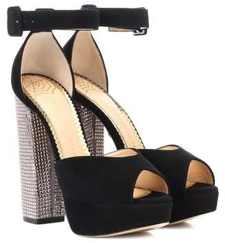 Charlotte Olympia Embellished plateau sandal