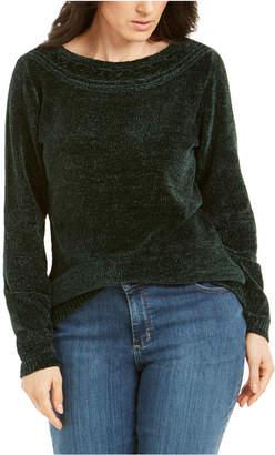 Karen Scott Boat-Neck Chenille Sweater