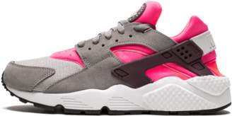 Nike Womens Air Huarache Run Flat Pewter/Hyper Punch