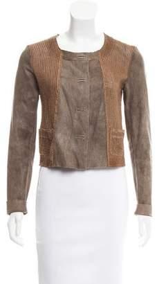 Transit Perforated Leather Jacket