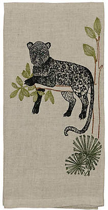 Coral & Tusk Panther Perch Tea Towel - Natural
