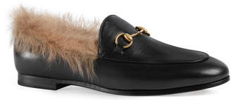 353d6c64a22 Gucci Jordaan Genuine Shearling Lining Loafer