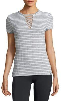 Andrew Marc Performance Ribbed Crisscross Top
