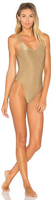 vitamin A Leah One Piece in Metallic Bronze $160 thestylecure.com