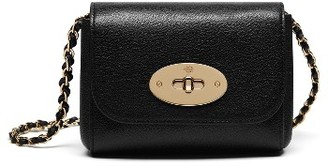 Mulberry Mini Lily Convertible Glossy Leather Crossbody Clutch - Black $550 thestylecure.com