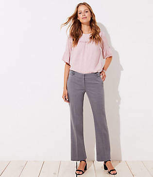 LOFT Petite Trousers in Button Tab in Marisa Fit