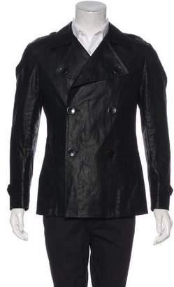 Ungaro Linen Double-Breasted Coat
