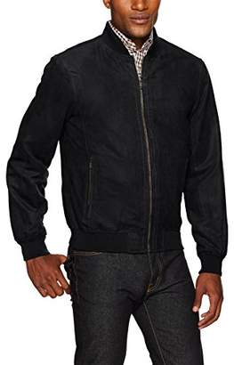 Co Weatherproof Garment Men's Microsuede Baseball Jacket