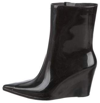 Alexandre Herchcovitch Melissa x Rubber Wedge Boots