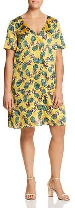 Glamorous CURVY Pineapple Button-Front Dress