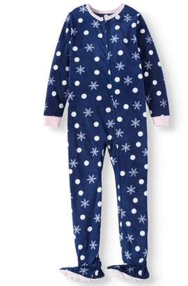 at Walmart.com · Komar Kids Girls  Snowflake Fleece Footed Blanket Sleeper  (Little Girls   Big ... d220e6b27