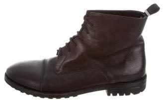 Balenciaga Cap-Toe Combat Boots
