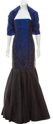 Jovani Beaded Strapless Gown w/ Tags