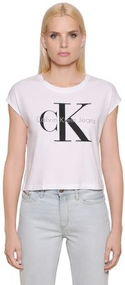 True Icon Cotton Jersey Cropped T-Shirt $60 thestylecure.com