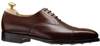 Crockett Jones Crockett & Jones Crockett and Jones Hallam Cap-toe Shoe in Dark Brown