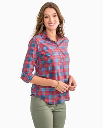 Southern Tide Balsam Plaid Hadley Popover Shirt