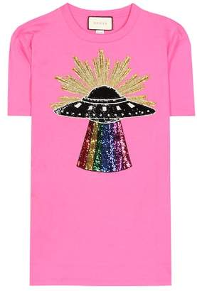 Gucci Sequinned cotton T-shirt