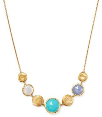 Marco Bicego 18K Yellow Gold Jaipur Half Collar Necklace with Turquoise, Mother-Of-Pearl and Chalcedony - 100% Exclusive